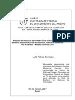 Utilização de Software Livre na Universidade Federal do Estado do RJ – Currículo Livre
