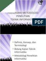 Metodologi Penelitian Teknik Informatika