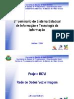 Palestra 01 - Cepromat - Projeto RDVI