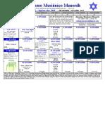 Calendario Etanim 5982