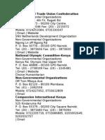 List of Ngos