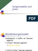 Wortbildungsmodell Und -Paradigmen Lösungsvorschläge