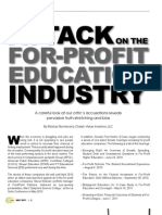 Attack on the for Profit Industry