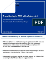 Transitioning to ESXi With vSphere 4.1