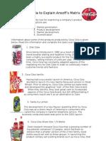 Ansoff & Coca Cola