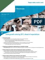 2011 First Quarter Revenues