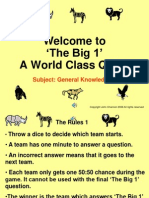 The Big 1 General Knowledge 2A - 31 Questions