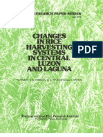 IRPS 31 Changes in Rice Harvesting Systems in Central Luzon and Laguna