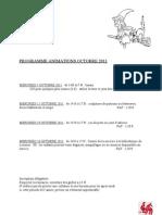 Programme Animations Octobre 2011