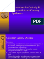 Interventions for Critically Ill Patients With Coronary Syndrome