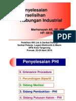 Penyelesaian Perselisihan Hubungan Industrial (PPHI)