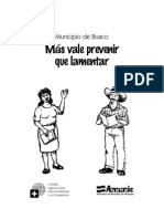 Folleto Popular prevención de desastres