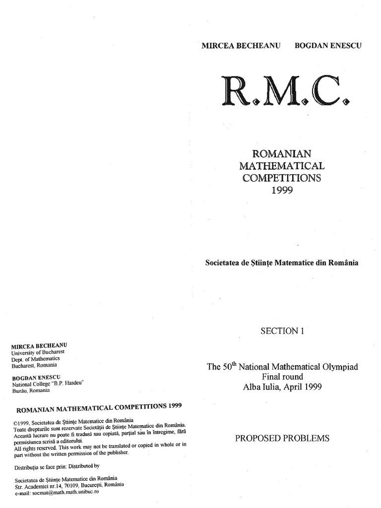 International mathematics competitions