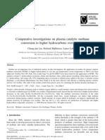Liu - Comparative Investigation on Plasma Methane Over Zeolite