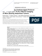 A Dual Radio Logic Contrast Agent Protocol for 18F-FDG and 18F-FLT PET-CT Imaging of Mice Bearing Abdominal Tumors
