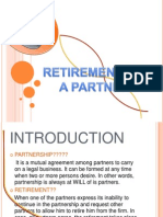 Accounts Proj Retirement of Pertnership