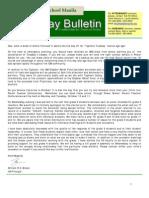 HS Friday Bulletin 9-30