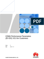 02 CDMA Performance Parameters (EV-DO) V3.3 for Customers