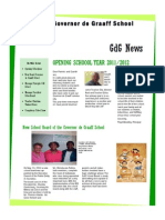 Newsletter #1 GdG School 26sep2011