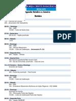 Agenda Outubro a Janeiro 2012