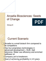 CaF - Class Presentation - Arcadia Bio Sciences