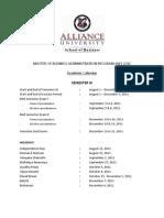 Sem III Schedule (July 2010-12)