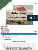 20111020 Taal en Economie