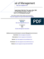 The Resource-based View of the Firm Ten Years After 1991