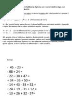 Addizione Algebrica Tra Relativi_secondo Modo