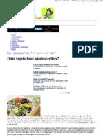 Diete Vegetariane Quale Scegliere