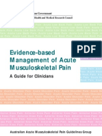 Evidence Based Management of Acute Musculoskeletal Pain 1