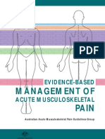 Evidence Based Management of Acute Musculoskeletal Pain 2
