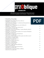 Rassegna stampa di Oblique, settembre 2011