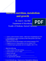 Lecture 4 - Bacteria Nutrition, Metabolism and Growth