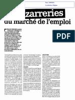 Bizarreries Du Marché De L'Emploi Belge