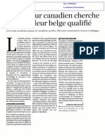 Le Canada recherche des travailleurs belges qualifiés