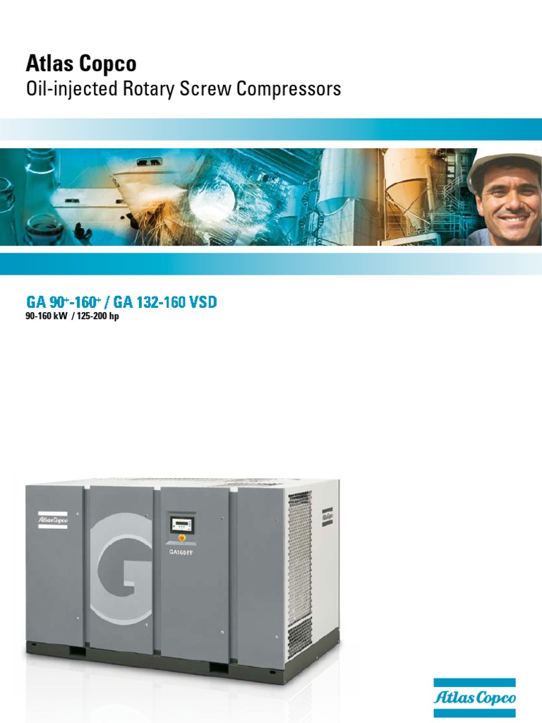 Atlas Copco-Oil-Injected Rotary Screw Compressors En | Gas Compressor | Air  Conditioning