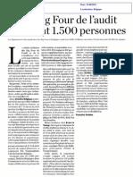 Les BIG FOUR de l'Audit Recrutent en Belgique
