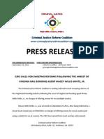 Press Release - 9-30-11 - Virginia Bail Agent Arrested In Alleged Sex for Bond Scheme