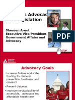 Diabetes Advocacy and Legislation (Shareen Arent)