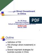 15031419 FDI in China VCU200903 Students