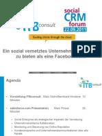 Social CRM Forum 2011 05 - Mani Pirouz - Ein Sozial Vernetztes Unternehmen Hat Mehrzu Bieten Als Eine Facebookseite