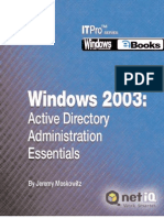 Backup, Restore, And Recovery for Windows Server 2003 and Active Directory
