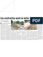 Housing Can Construction Waste Be Better Managed