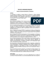 Ordenanza Municipal Indice de Aprovechamiento y Parqueos