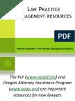 Law Practice Management Resources