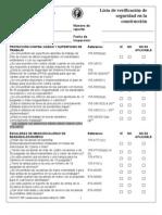 Checklist Construccion