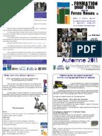 Prog Automne 2011 FORMATION Pour Tous