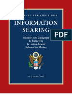 National Strategy for information Sharing - october 2007