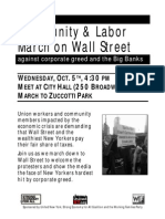 Community & Labor March on Wall St